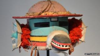 "A ""Chof Cachina"" sacred mask of the Arizona's Hopi native American tribe"