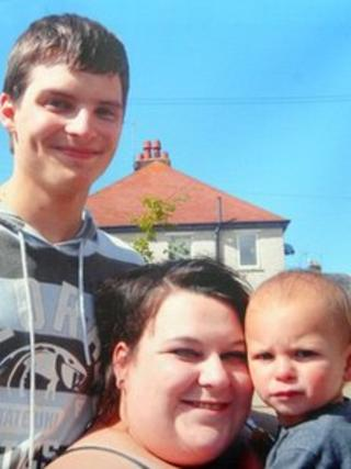 Liam Timbrell, Lee-Anna Shiers and son Charlie