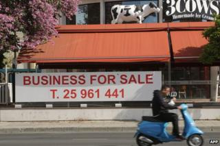 Closed ice cream business in Nicosia, 9 Apr 13