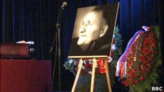 Portrait of Beketov - mourning ceremony, 11 Apr 13