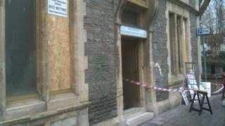 Vandals cause damage at the Fishponds Conservative Club