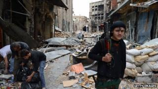 Rebel in Aleppo