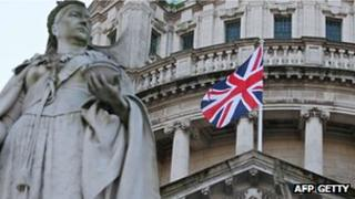 Queen Victoria and union flag