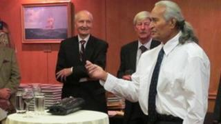 Fred Marafono at the launch of his book