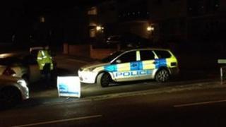 Police car at Portwey Close