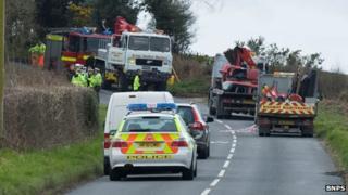 Dorset road crash scene