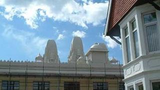 A Hindu temple in Grangetown, Cardiff