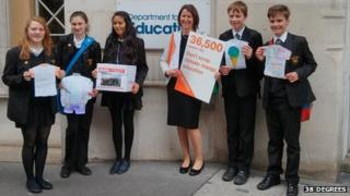 Climate petition at DfE