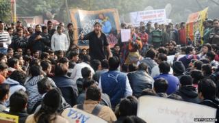 Protest march in New Delhi in December 2012