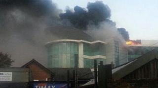 Fire scene at Watford