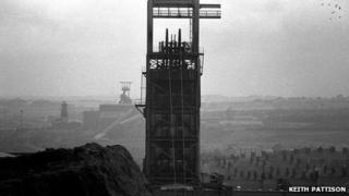 Easington Colliery (foreground) overlooks two further pits