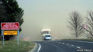 Sandstorm near Forres/Pic: Susan Hindley