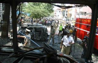 Site of the blast