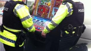 Police seize machines
