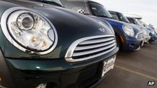 Minis in the forecourt of a dealership