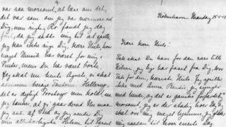 Letter to Nils Bohr from his fiancee Margrethe