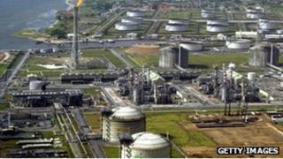 Total Nigeria oil and gas refinery at Amenam in the Niger delta (file pic)