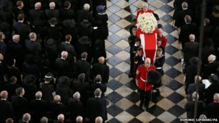 Baroness Thatcher's funeral