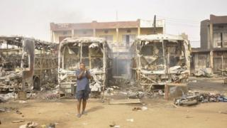 Aftermath of bomb attack in Kano, March 2013