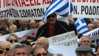 Anti-austerity demonstration in Greece 13 March 2013