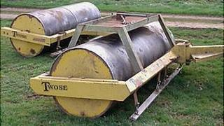 Four metre magnet and roller at Charlton Park, Wiltshire