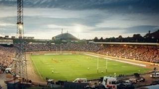 Crowd at Odsal Stadium