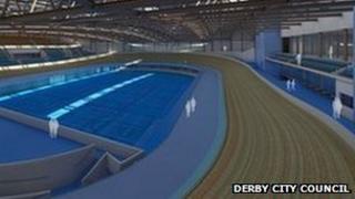 Artist's impression of Derby's new velodrome