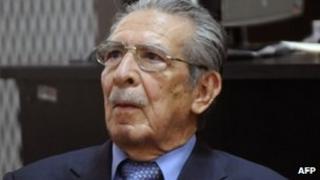 Efrain Rios Montt in court 18 April 2013