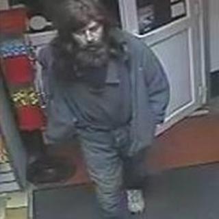 CCTV image of Mr Roberts visiting a shop in Blaydon
