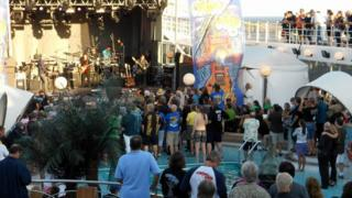 Rock concert on cruise ship
