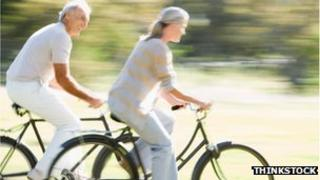 Pensioners on bikes