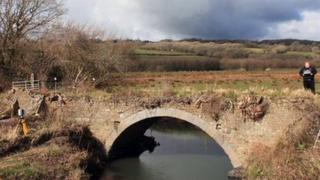 Pwll y Llygod bridge is the oldest railway bridge in Wales