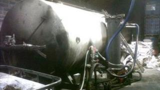 Fuel-laundering plant