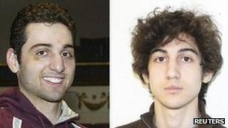 Tamerlan Tsarnaev (L), 26, and his brother Dzhokhar Tsarnaev, 19