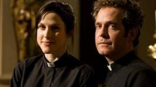 Amanda Hale and Tom Hollander in Rev