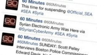 Screenshot of hacked CBS @60Minutes Twitter feed
