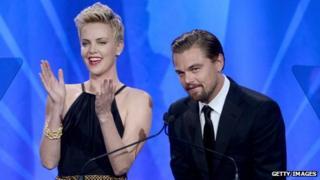 Charlize Theron and Leonardo DiCaprio