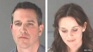 Atlanta police photos of Jim Toth and Reese Witherspoon following their arrest