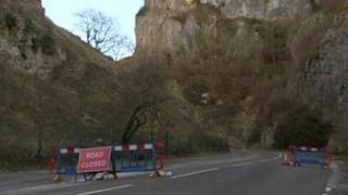 Cheddar Gorge closed