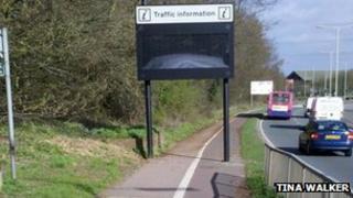 Traffic information sign, Coreys Mill Lane, Stvenage