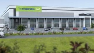 The new £22m food distribution centres in Derbyshire