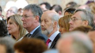 The ordination was attended by many political figures, including the UUP's Mike Nesbitt and Alliance's David Ford. NI Secretary of State Theresa Villiers was also present.