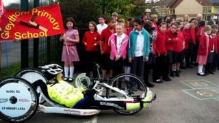 Claire Lomas at Greythorne Primary School