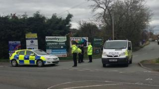 Police cordon at Adderley Road Industrial Estate