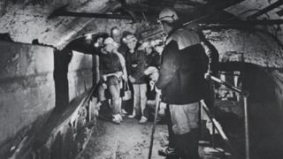 Visitors to Big Pit, 1983