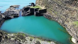 Blue Lagoon at Abereiddy in Pembrokeshire