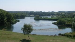 The west lake at Cosmeston Park