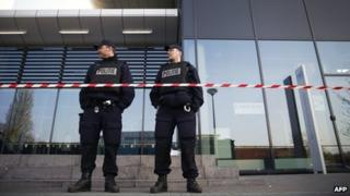 Armed police were deployed and schools closed in the western Dutch city of Leiden on Monday