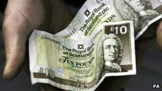 Royal Bank of Scotland £10 note
