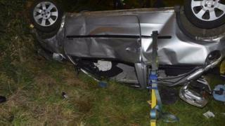 Car crash on the A149 at Heacham in September 2012